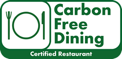 Carbon Free Dining Certified Restaurant