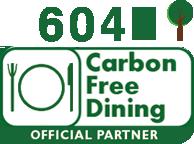 Carbon Free Dining - Le symbole de la Sustainable Restaurant Association