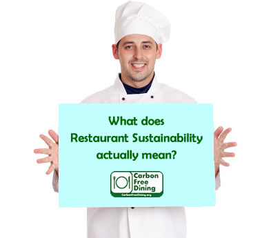 Carbon Free Dining - What is Restaurant Sustainability?