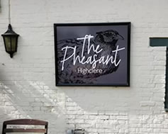 Carbon Free Dining - The Pheasant - Highclear, Newbury